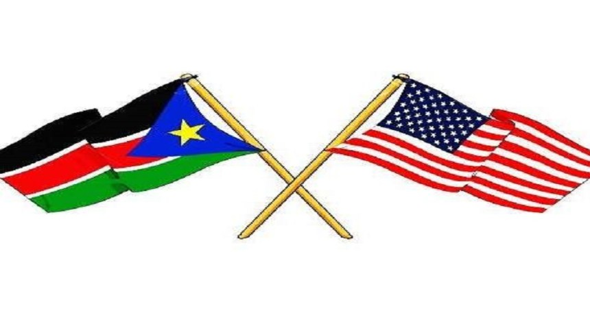 United States and South Sudan flags (Credit: US Embassy Facebook page)
