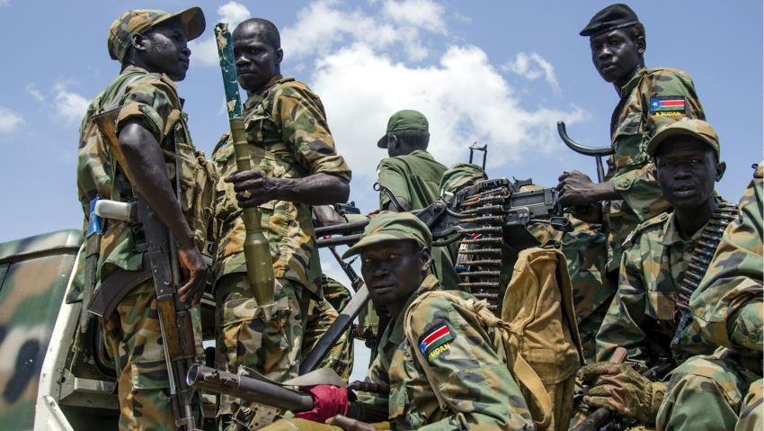 A contingent of SPLA-IG in a contested area in South <a href=