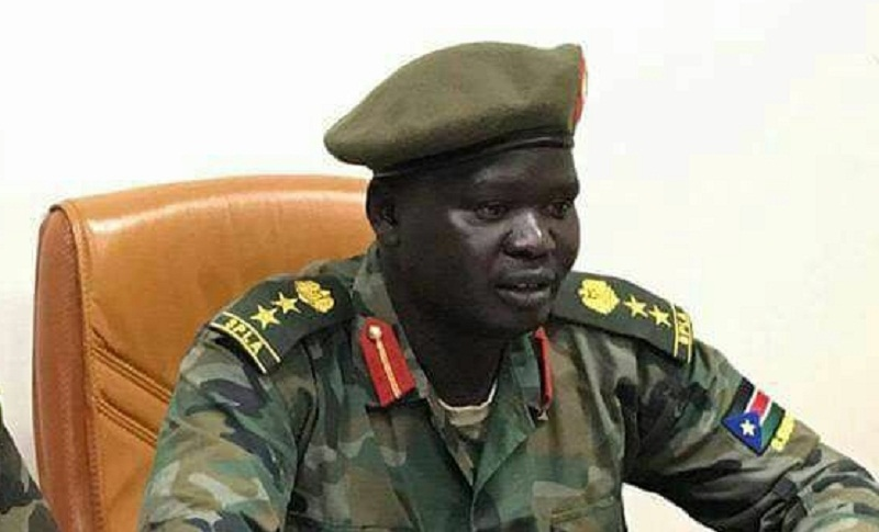Col. Dickson Gatluak Joak, military spokesman of FVP Taban Deng's forces allied to South Sudan government (File photo)