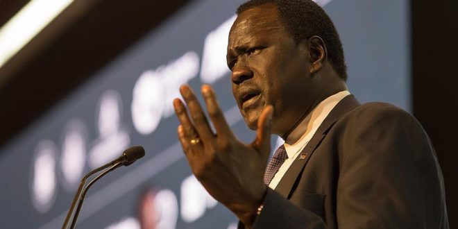 South Sudan Petroleum Minister Ezekiel Lol Gatkuoth (File photo)