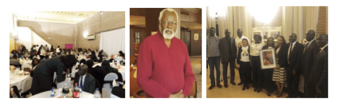 South Sudanese in Birmingham, United Kingdom, during a memorial service of Hon. Makur Thou, May 21st, 2018(Photo: file/supplied/nyamilepedia)