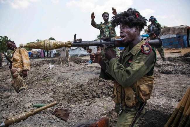 South Sudan soldier fires RPG in an undisclosed location in Upper Nile (File photo)
