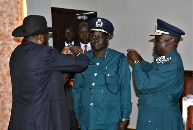 South Sudan President Swearing in new immigration boss (Photo credit: PPU)