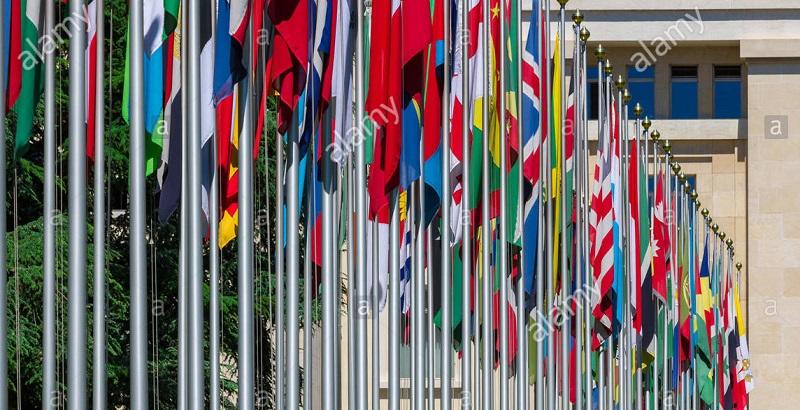 Flags of international community (File photo)