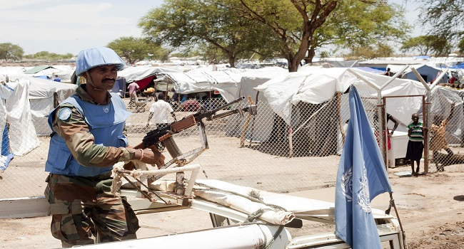 UN peacekeeper at an unidentified location in South Sudan (File photo)