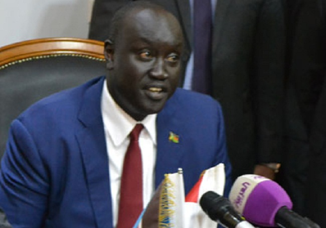 South Sudan's minister in the office of the president Mayiik Ayii Deng (File photo)
