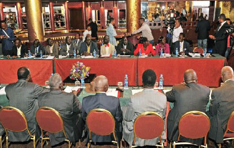 South Sudan Parties as they hold talks in Khartoum's Police Academy in Suba (File Photo)