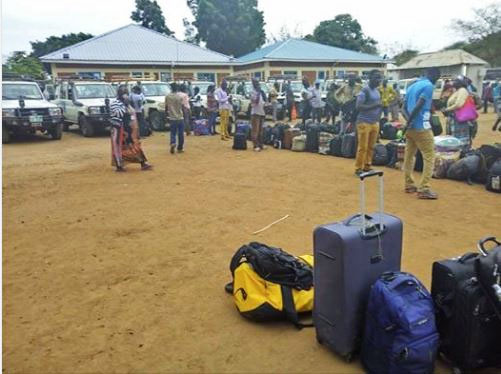 Aid workers preparing to leave Maban County (Photo credit: The Juba Monitor)