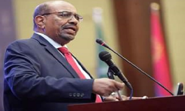 Sudanese President Omar Hassan Ahmed Al-Bashir speaking during the signing ceremony of the South Sudan peace deal in Khartoum on August 5th 2018 (Photo credit: Sudan News Agency)