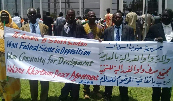 Members of the Wau state demonstrating for peace in Khartoum, Sudan (file photo)