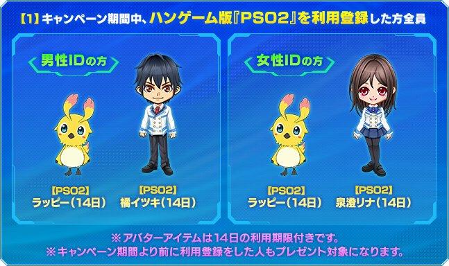 【PSO2】ハンゲーム「PSO2アニメ」アバター1