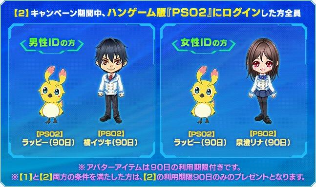【PSO2】ハンゲーム「PSO2アニメ」アバター2