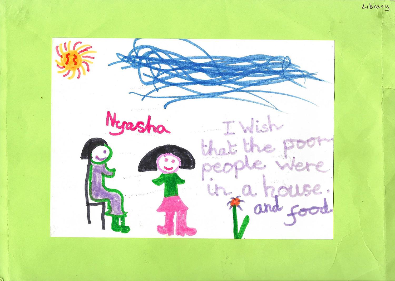 Nyasha Harper-Michon childhood drawing