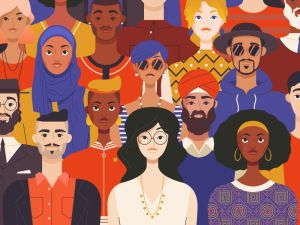 Diverse people designed by Nick Slater for Asana
