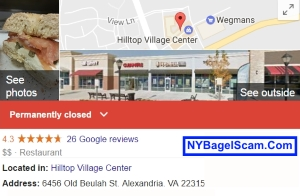 NY Bagel Cafe Closed
