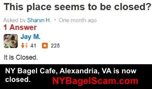 NY Bagel Alexandria Closed