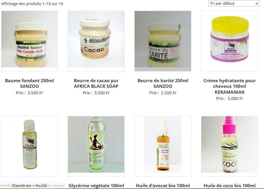 achats en ligne de ses produits capillaires sur mpessa