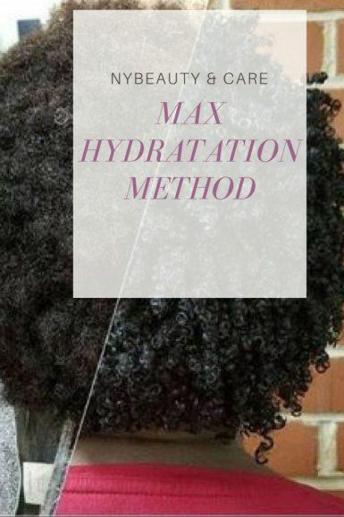 la max hydratation method sur les cheveux secs et crépus