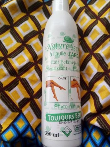 revue du lait nautre secrete à l'huile d'argan