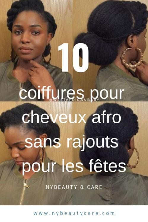 les coiffures afro sans rajouts pour les fetes