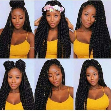 les styles de box braids différents