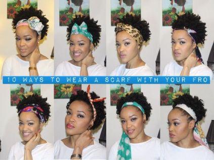 jolies attachés de foulard pour les cheveux courts