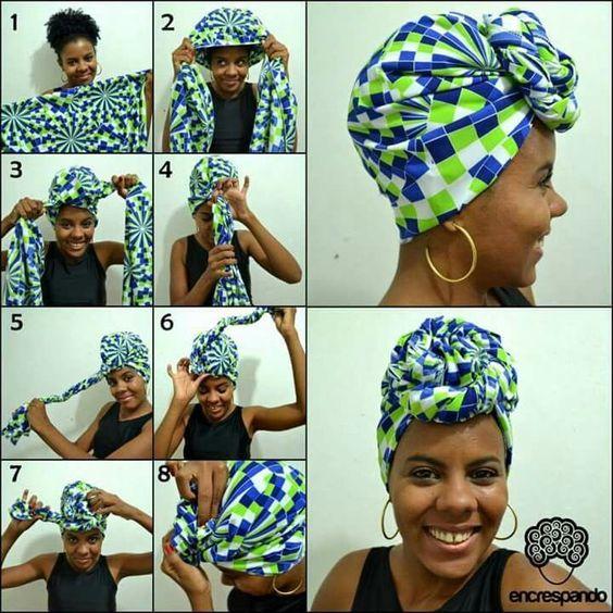 styles d'attachés de foulards pour les cheveux qui ne sont pas trop longs