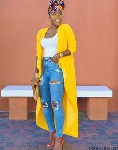 13 look et modèles avec des jeans et des kimono