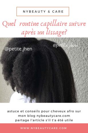routine après lissage des cheveux crépus, frisés, bouclés