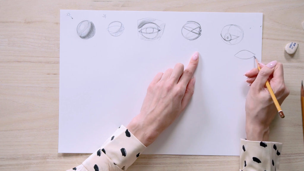 How to draw eyes with a pencil Phased - Stage 3 - Photo