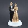 Topfigur Guldbrudepar - 9,5 cm