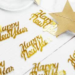 PartyDeco Konfetti Happy New Year, guld