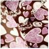 Pavoni Chokolade Transfersheet med hjerter
