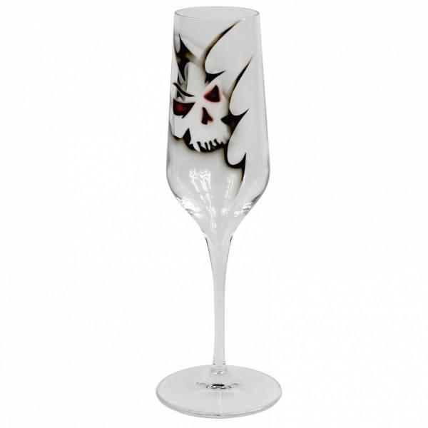 Champagneglas Dödskalle