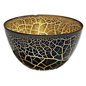 Croco Skål svart-guld