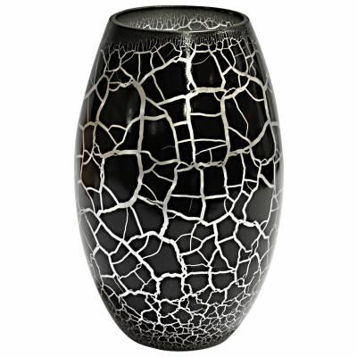 Croco Vas svart-silver