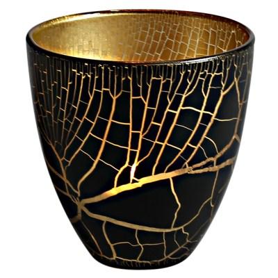 Croco Ljuslykta svart-guld
