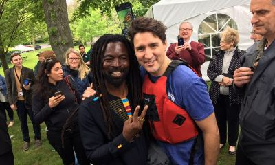 Rocky Dawuni meets Canadian prime minister Justin Trudeau