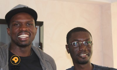 Ameyaw Debrah with NBA star, Luol Deng