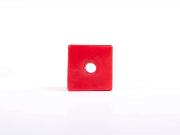 Giant Textured Beads: Smooth Red Cube   American Printing ...