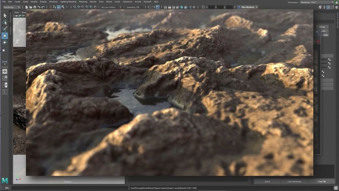 Displacement Rendering With Arnold Using The Substance In Maya Plugin