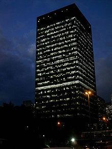 BNDES, à noite. Edifício-sede, Rio de Janeiro, RJ.