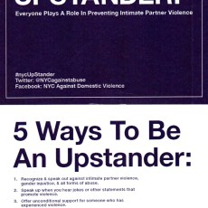 NYC 4 CEDAW supports the #upstander initiative