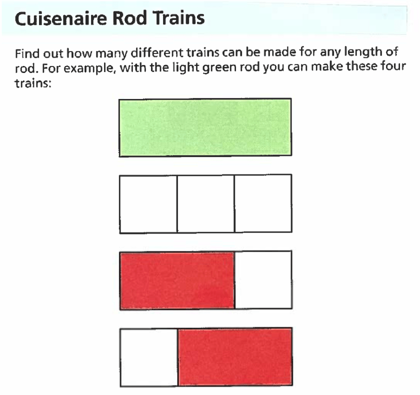 Making Trains from Cuisenaire Rods – NYC Community of Adult