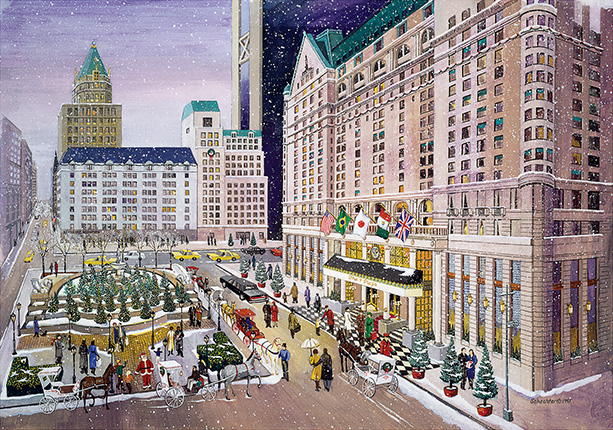 New York City Christmas Cards Christmas Lights Card And