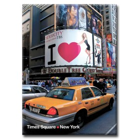 47 Street and Broadway on Times Square New York Photo Magnet
