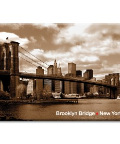 Brooklyn Bridge Panorama New York Photo Magnet