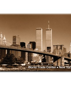 Brooklyn Bridge and WTC New York Photo Magnet