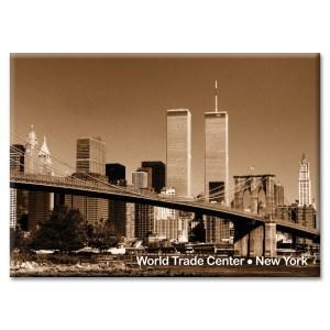 Brooklyn Bridge and WTC New York Photo Magnet