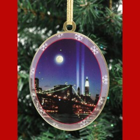 WTC Memorial Lights New York Christmas Ornament from NY Christmas Gifts